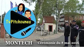 Commémoration du 8-Mai : les jeunes reporters de TvPitchounes présents ce 8 mai 2016 à #Montech #TvLocale_fr