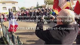 Cérémonie du 11 novembre 2016 à Montbartier en Tarn-et-Garonne