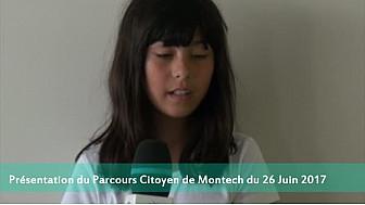 Annonce du Parcours citoyen  de Montech du 26 Juin 2017