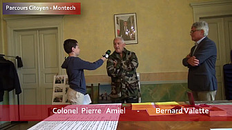 Parcours Citoyen des écoles de la ville de Montech - Colonel Pierre Amiel et Monsieur Bernard Valette - atelier Légion d'Honneur
