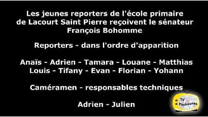 Les jeunes reporters de l'école de Lacourt-Saint-Pierre ont reçu le Sénateur François Bonhomme @TvLocale @RC_Toulouse_fr