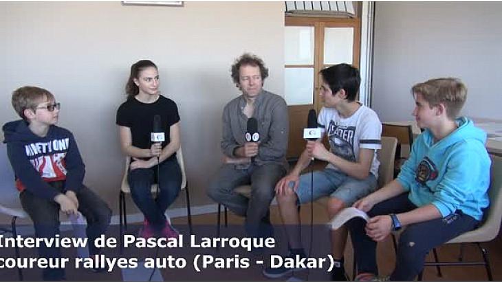 Les Jeunes reporters sans frontières ont reçu Pascal Larroque coureur de rallyes