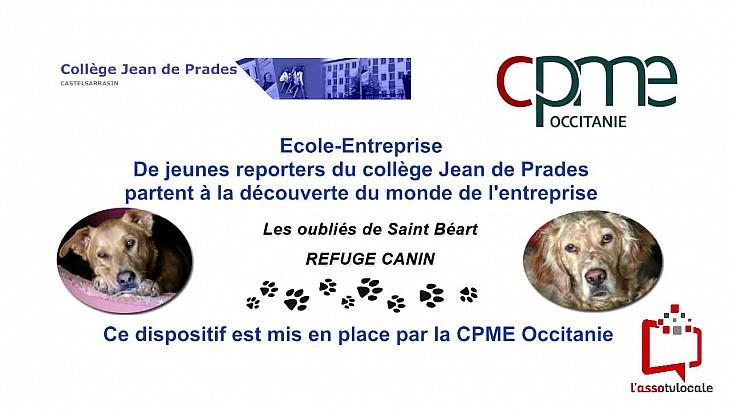 @CPMEoccitanie -  des Jeunes du collège Jean de Prades de Castelsarrasin  visitent le refuge 'Les Oubliés de Saint Béart'